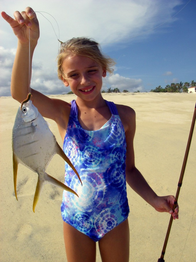 Hannah with her first exotic Gaffstopsail Pompano